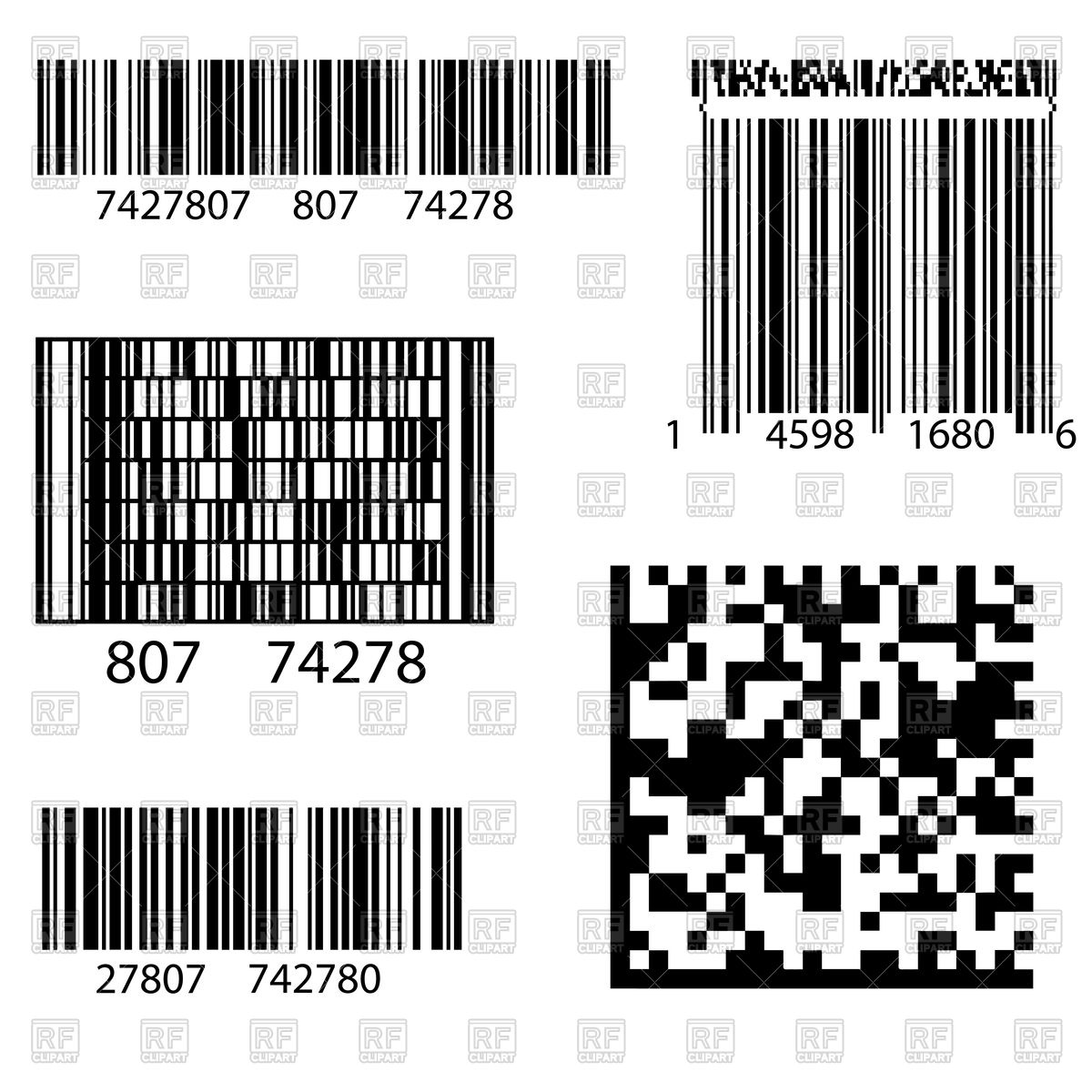 Product barcode 2d square label.