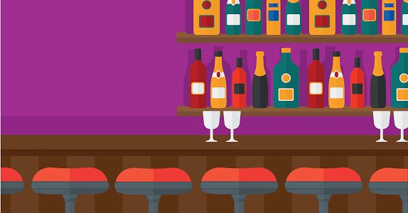 Background of bar counter Clipart Image.