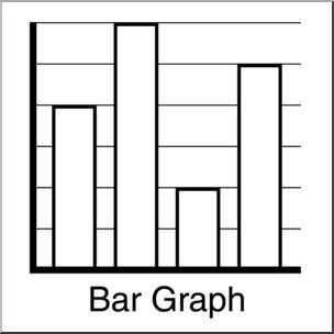 Clip Art: Graphing: Bar Graph B&W I abcteach.com.