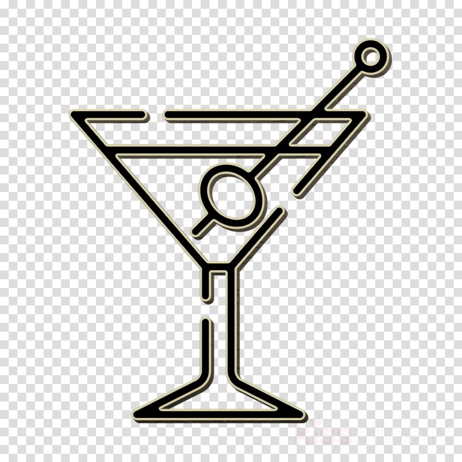 Bar icon Martini icon clipart.