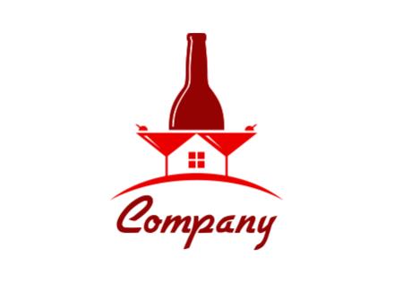 Home Bar Logo Design.