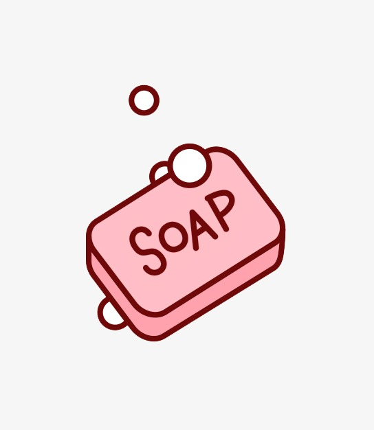 Red Soap, Soap Bar, Bubble, Cartoon PNG Transparent Image and.