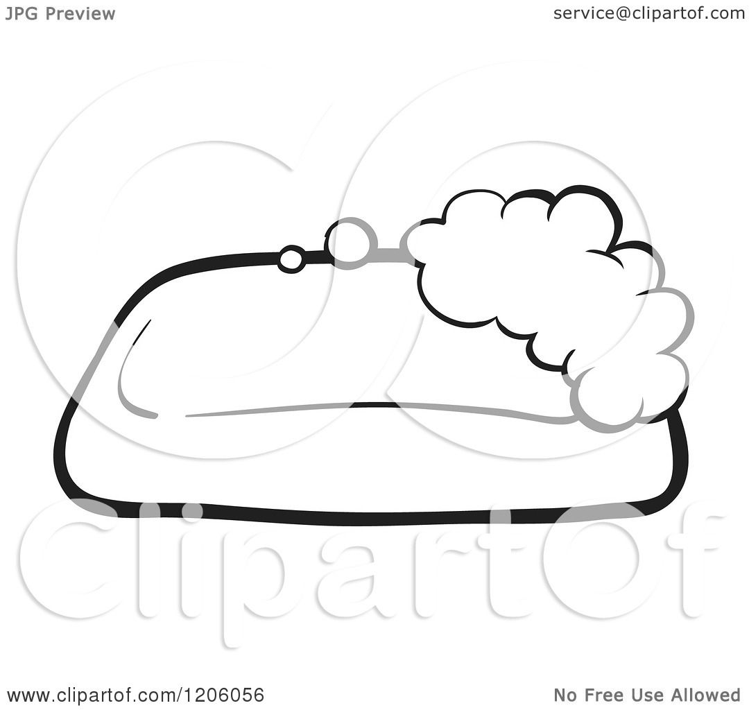 Cartoon of a Black and White Sudsy Bar of Soap.