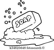 Cartoon bar of soap Clip Art.