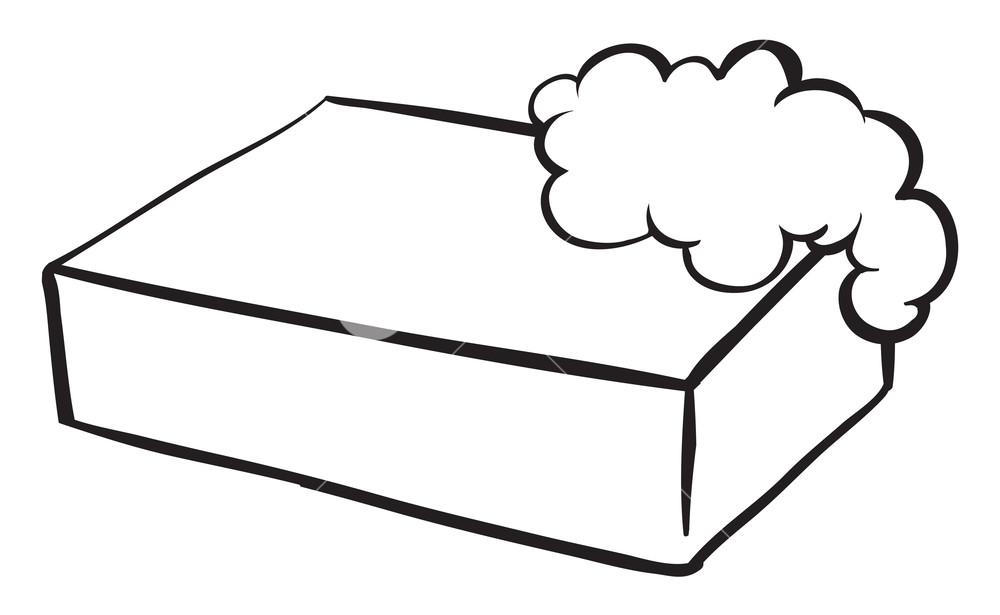 Illustration of a bar of soap on a white background Royalty.