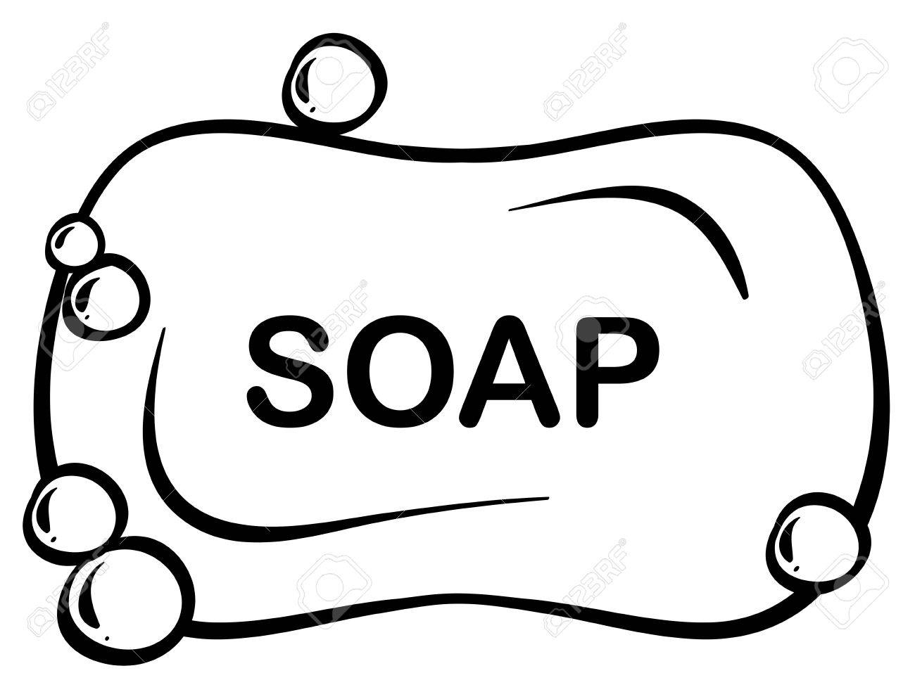 Close up bar of soap with foam.