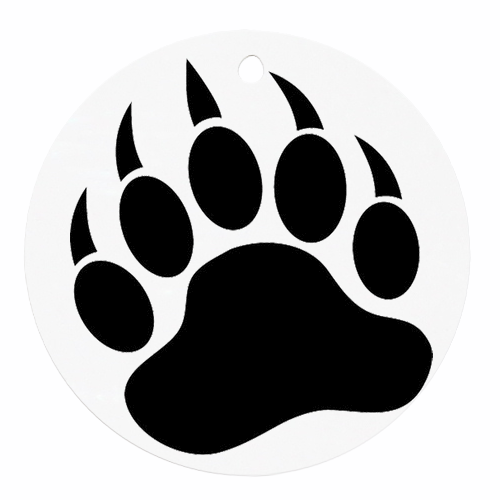 Grizzly Bear Paw Print Clipart.