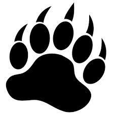 Bear paw clipart.