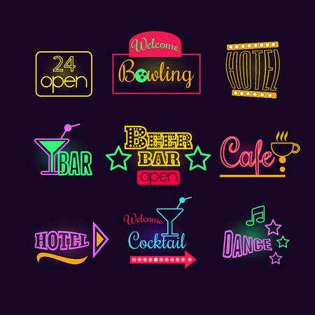 60,689 Neon Sign Stock Vector Illustration And Royalty Free Neon.