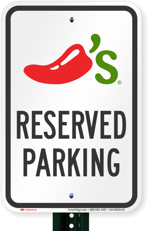 Reserved Parking Sign, Chilis Grill And Bar Clipart.