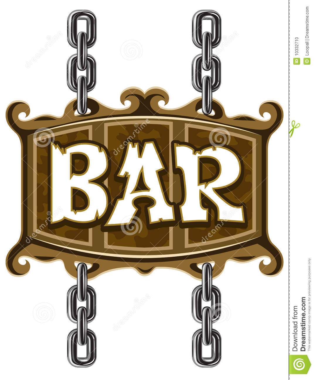 Wooden Sign For Beer Pub Or Bar Stock Illustration.