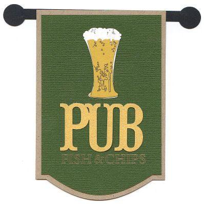 Pub Sign Laser Die Cut.
