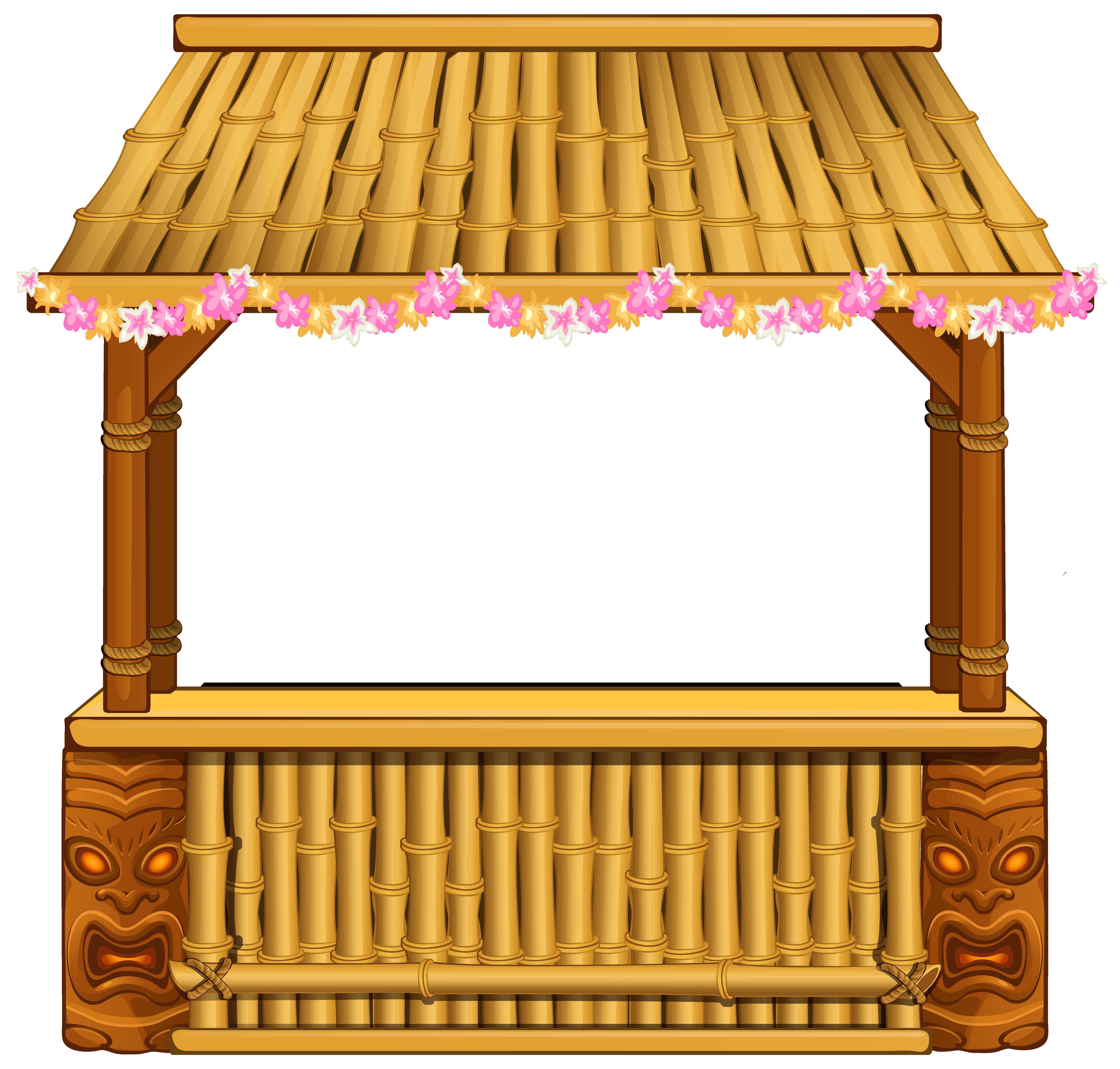 Tiki Bar PNG Clipart Image.