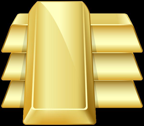 Gold Bars Transparent PNG Clip Art Image.