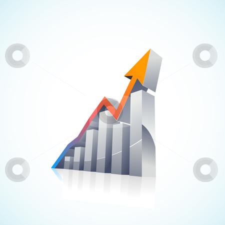 Vector 3d Stock Market Bar Graph stock vector.