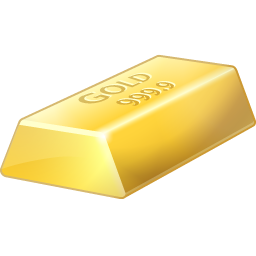 Gold Bar Icon, PNG ClipArt Image.