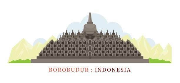 Borobudur Clip Art, Vector Images & Illustrations.