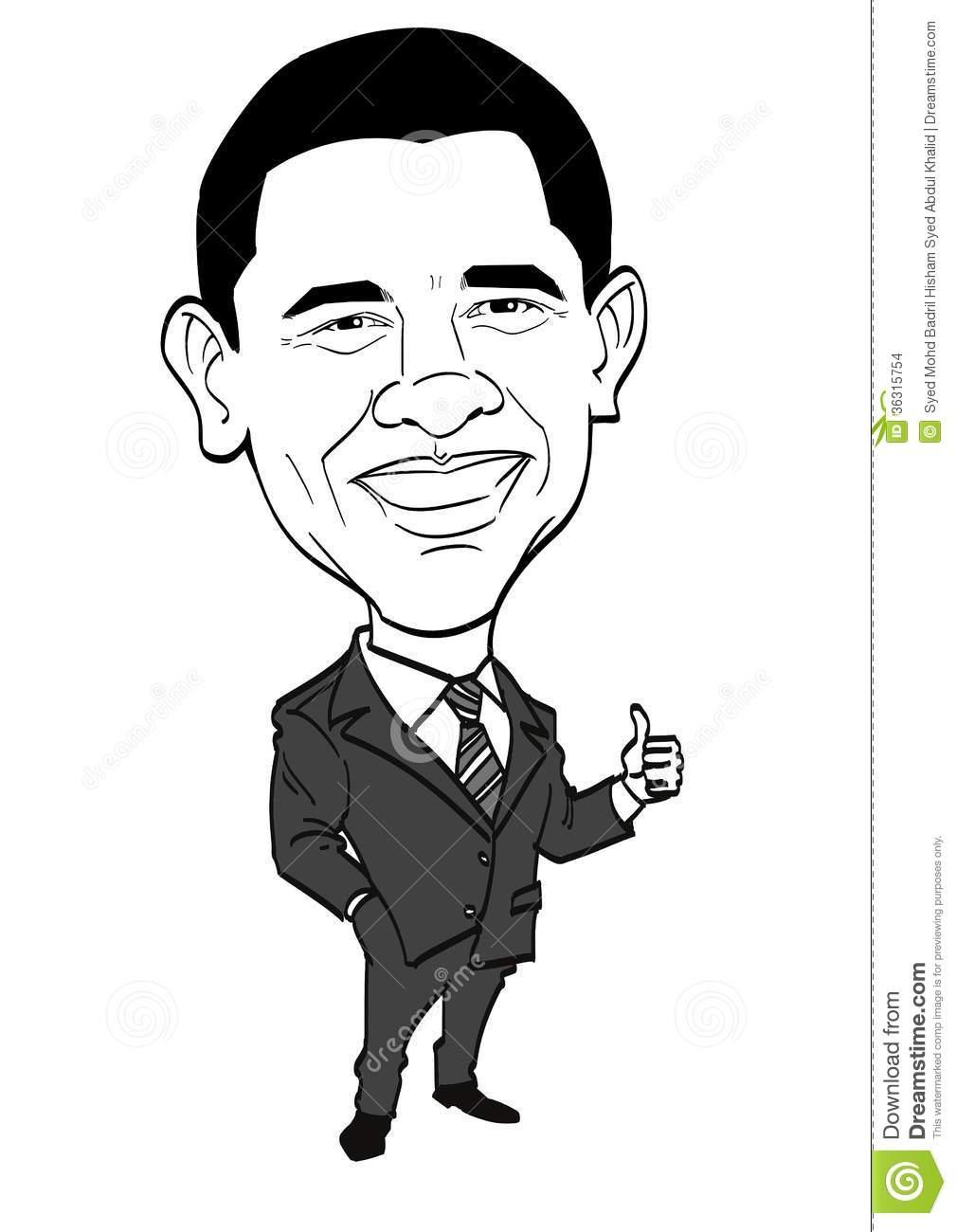 President obama clipart.