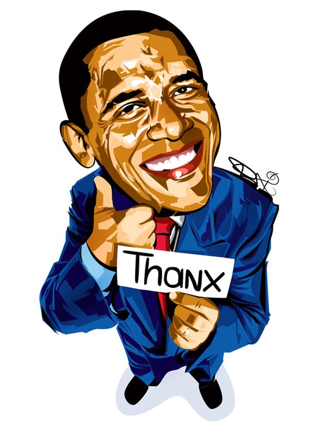 Barack Obama Clipart.
