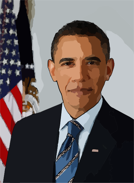 Clip Art President Obama Clipart.