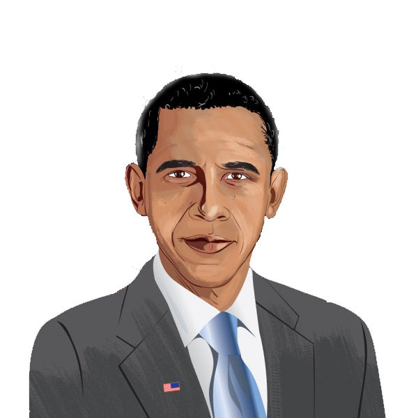 Barack obama clip art pictures.