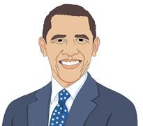 Barack obama clip art pictures.
