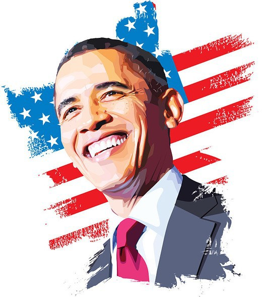 Popular Obama Oil Painting.