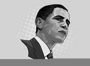 President Barack Obama Clipart.