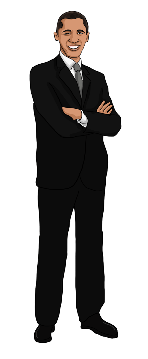 Free to Use Public Domain Barack Obama Clip Art.