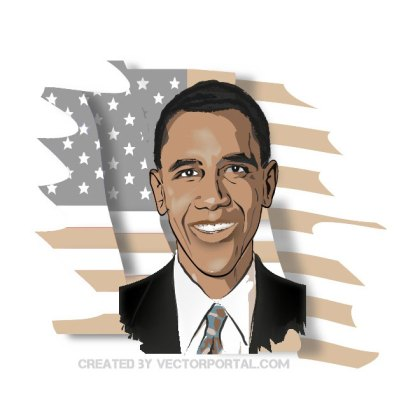 16 Barack Obama Clip Art Vectors.