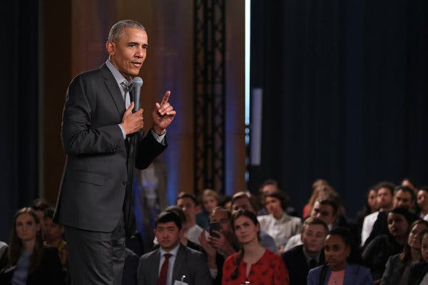 Obama Moves Off Political Sidelines, Earlier Than He.