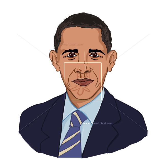 Barack Obama caricature.