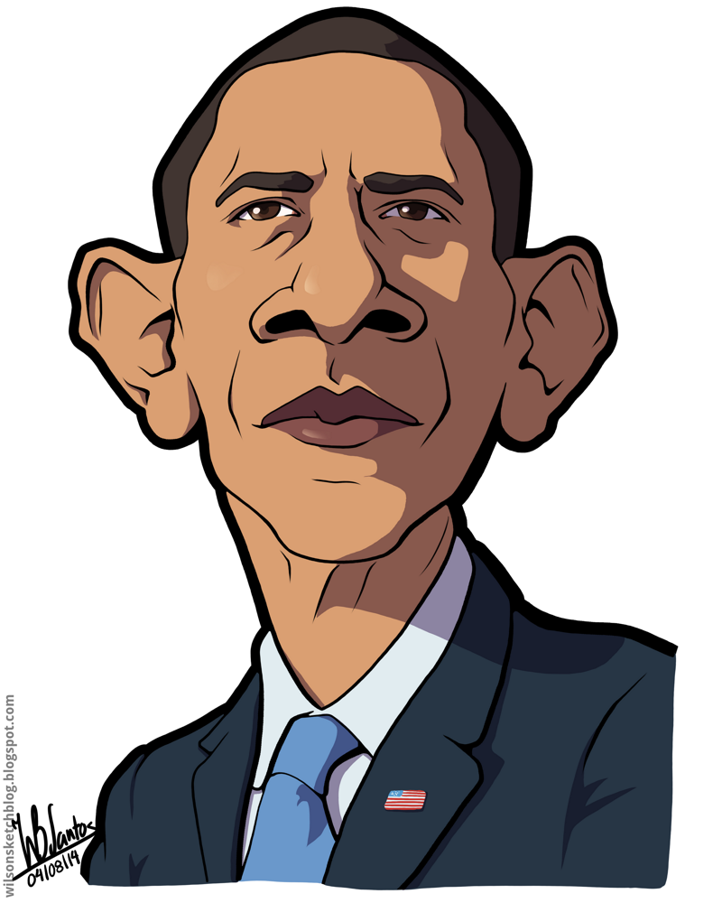 Barack Obama Cartoon Drawing at GetDrawings.com.