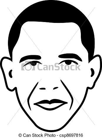 vector Barack Obama.