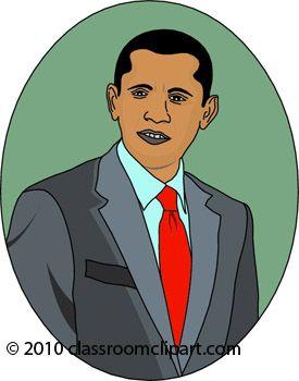 President Barack Obama Clip Art.