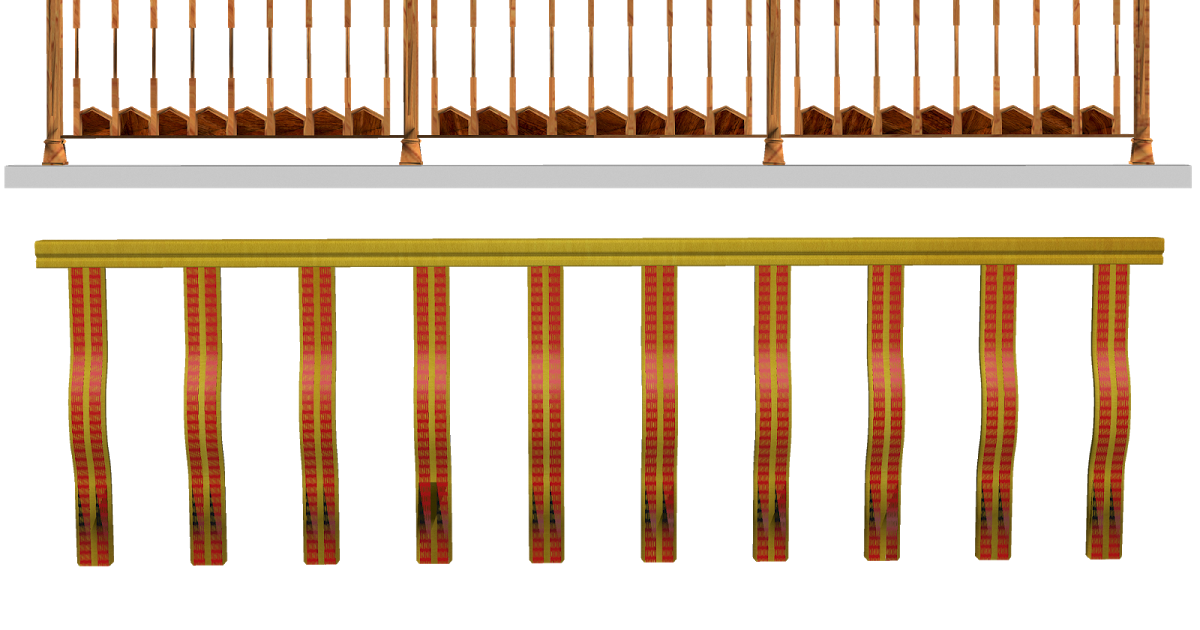 Cosas en PNG: 3 barandales para fotomontajes.