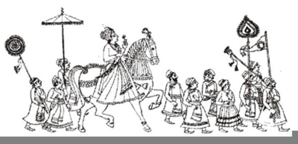 Indian Wedding Baraat Clipart.
