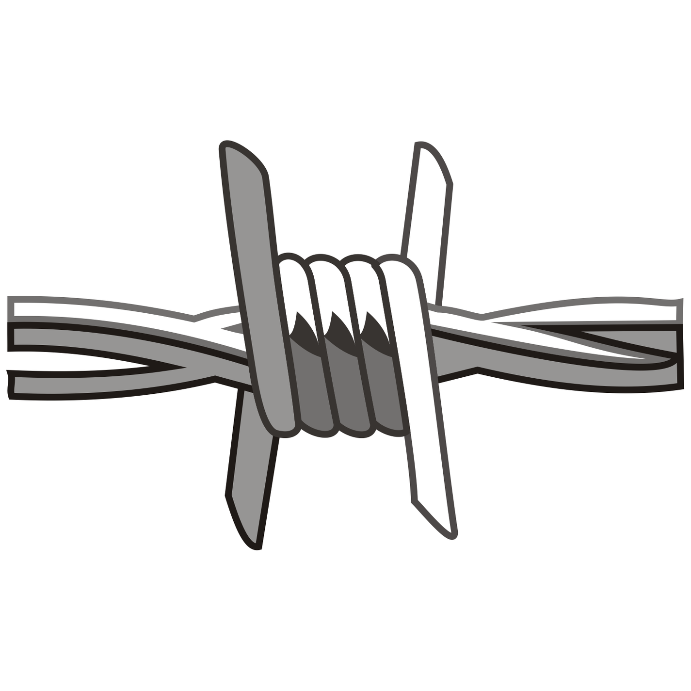 Free Barb Wire Vector.
