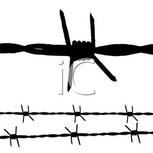 Barb Wire Clipart.