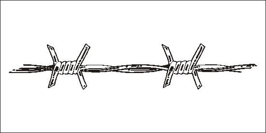 Barb wire clip art.