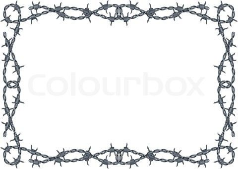 Free Silhouette Patterns barbwire.