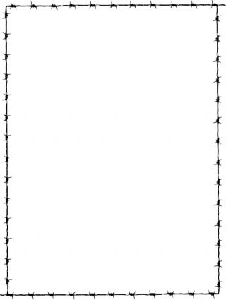 Revans Barbed Wire Border clip art free vector.
