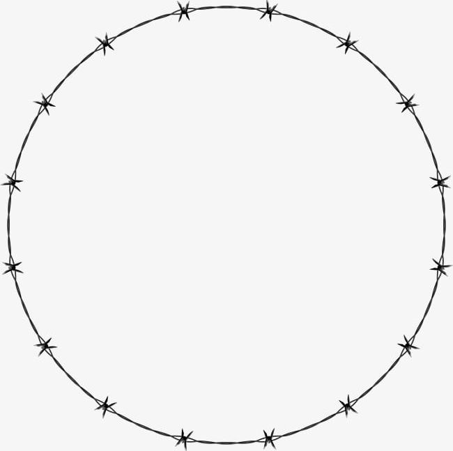 Barbed Wire Circle Round PNG, Clipart, Barbed Clipart.