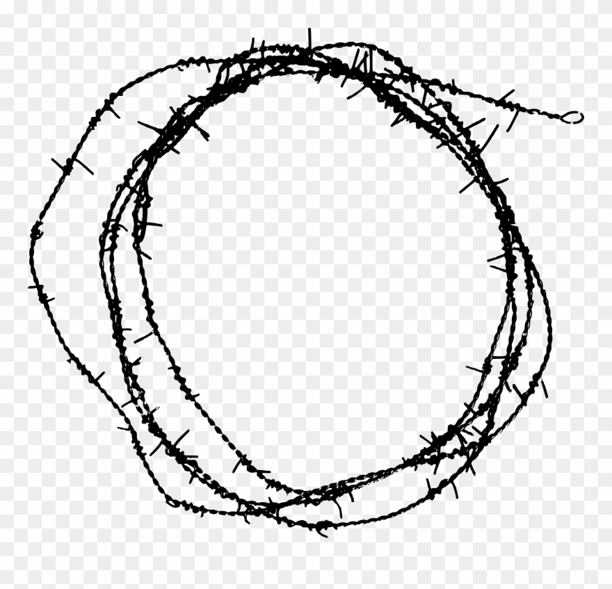 Freetoedit Barbed Wire Circle Border Element Hd Sticker.