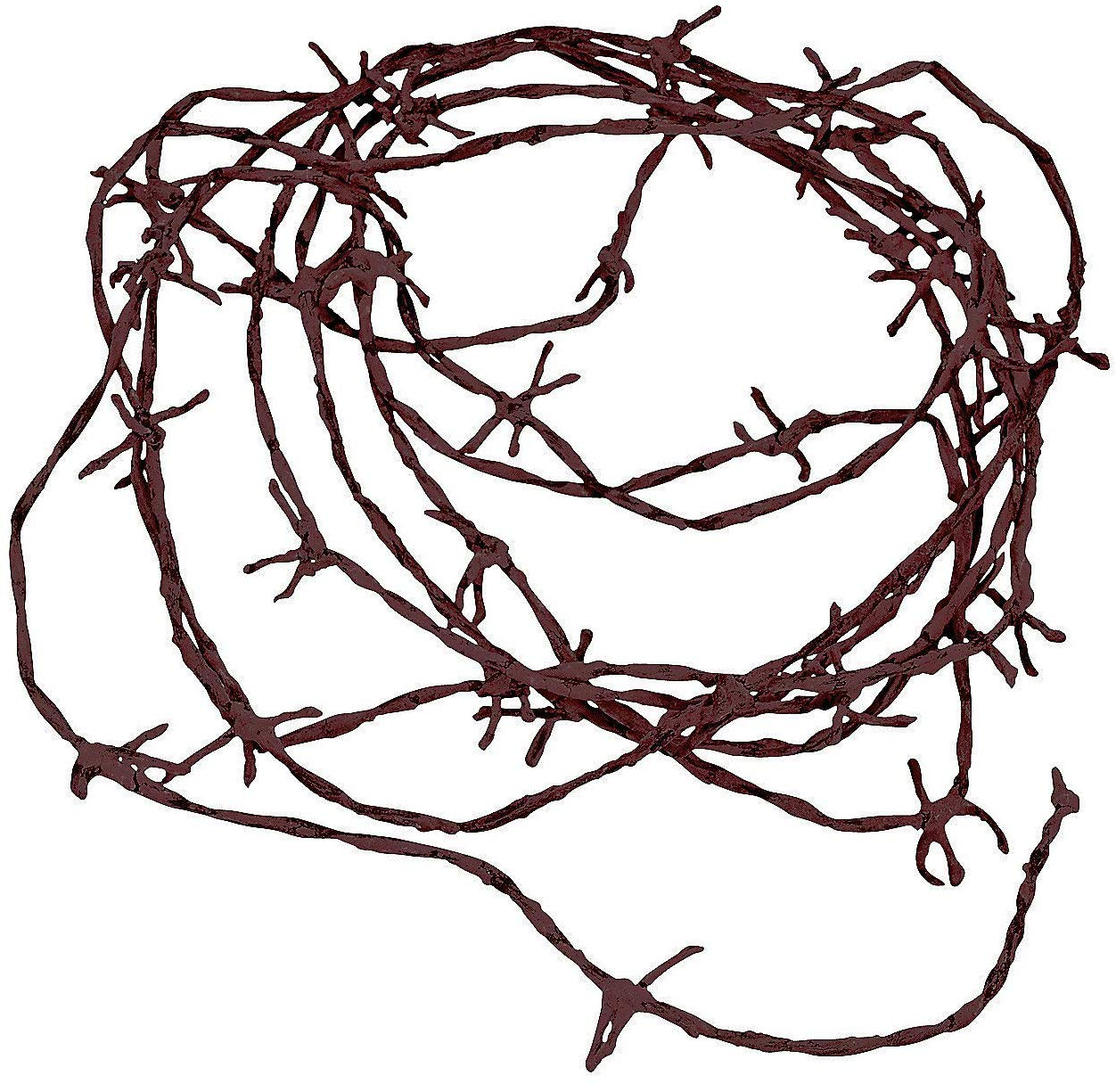 Fun Express Soft to The Touch Rusty Barbwire Cord Decoration, 18\'.