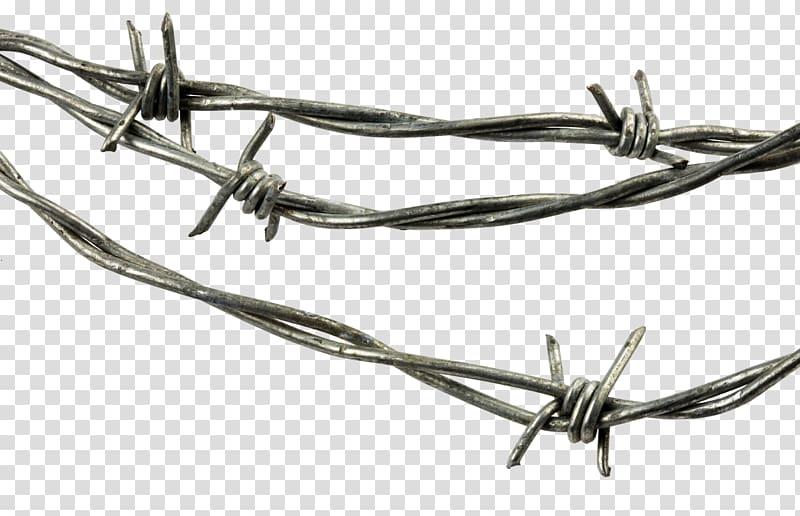 Gray barbwire illustration, Barbed wire Steel Galvanization.