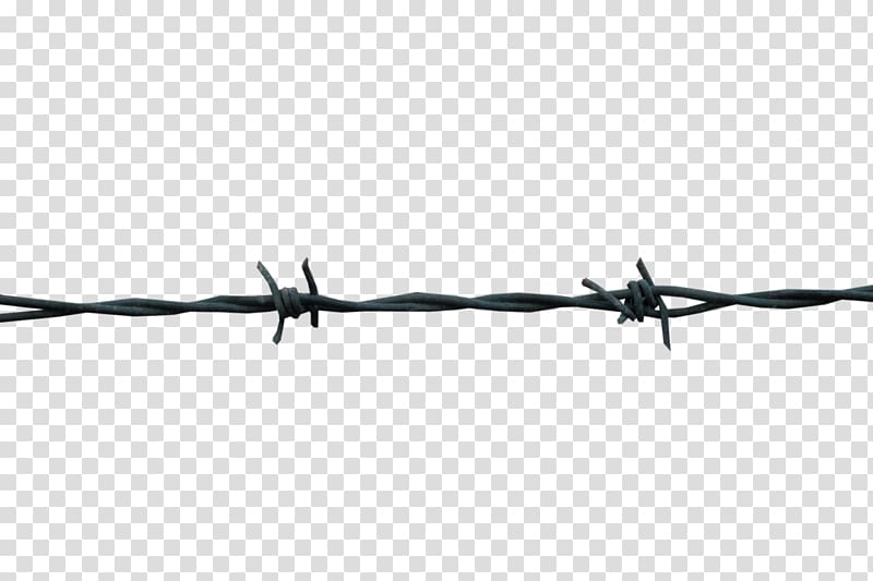 Black and white Barbed wire Design, Barbwire transparent.