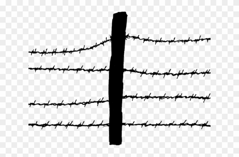 Barb Wire Clipart Fence Post.