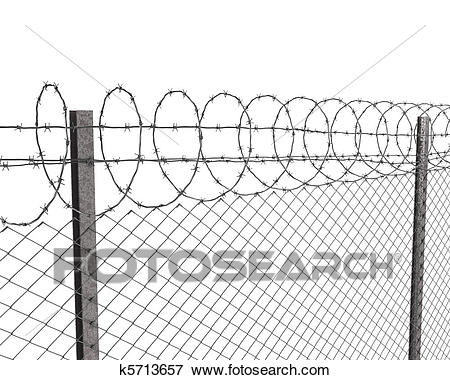 Barb wire fence clipart 3 » Clipart Station.