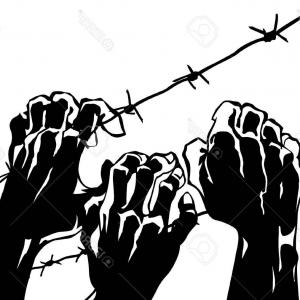 Clipart Of D Barbed Wire Fencing Design Elements Royalty Free Vector.